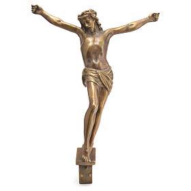 Corpo di Cristo ottone bronzato 67 cm s1