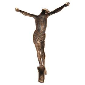 Corpo di Cristo ottone bronzato 67 cm s2