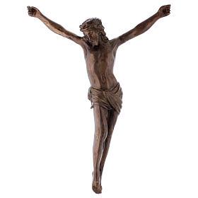 Crocifissi in metallo: Corpo di Cristo ottone bronzato 67 cm