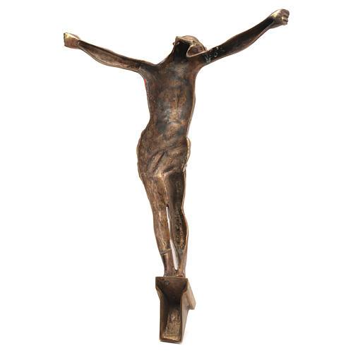 Corpo di Cristo ottone bronzato 67 cm 2