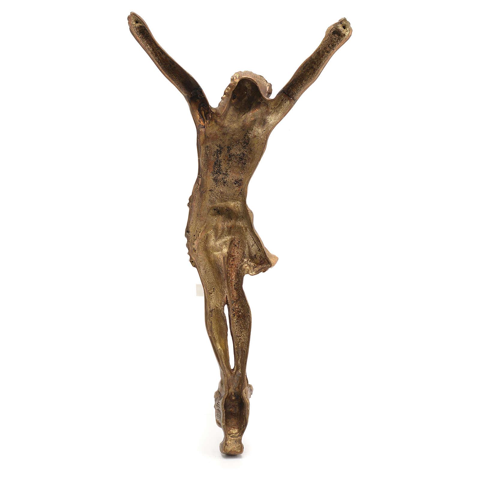 Crucifix in bronzed metal 60cm 4
