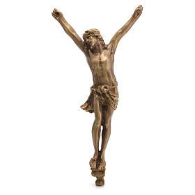 Crucifix in bronzed metal 60cm s1