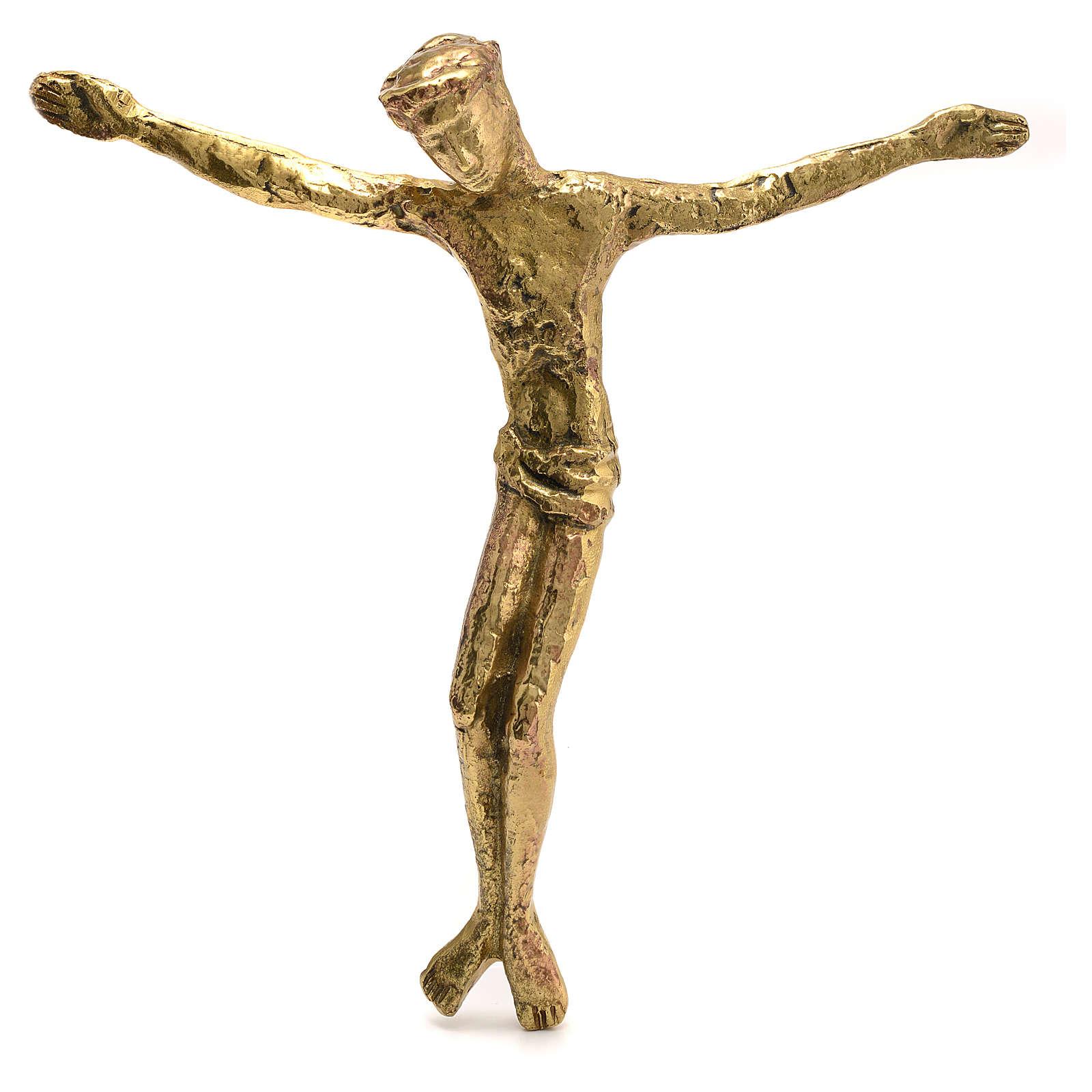 Corps du Christ laiton bronzé 28cm 4