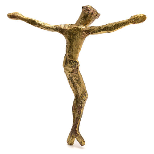 Corps du Christ laiton bronzé 28cm 2