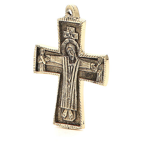Jesus Priest Crucifix Bethlehem Monks 9x6cm 2