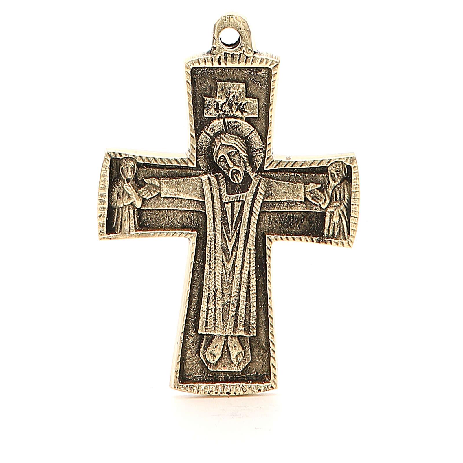 Croix Jésus grand prêtre Moines Bethléem laiton 9x6cm 4