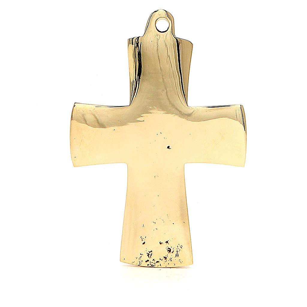 Croce Jésus grand prêtre Monaci Betlemme ottone 9x6 cm 4