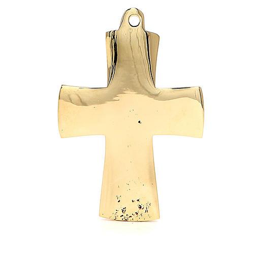 Croce Jésus grand prêtre Monaci Betlemme ottone 9x6 cm 3