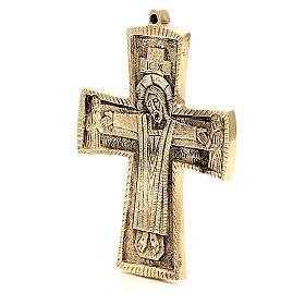 Jesus Priest and King Crucifix Bethlehem Monks 13x9,5cm s2