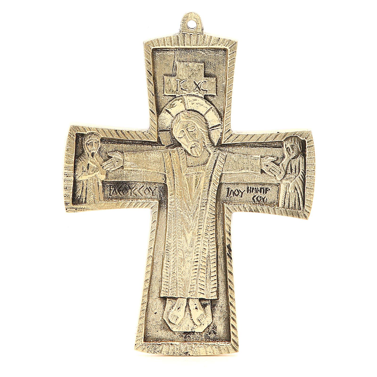 Croce Jésus grand prêtre Monaci Betlemme ottone 18 x 13 cm 4