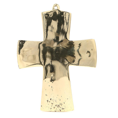 Croce Jésus grand prêtre Monaci Betlemme ottone 18 x 13 cm 3