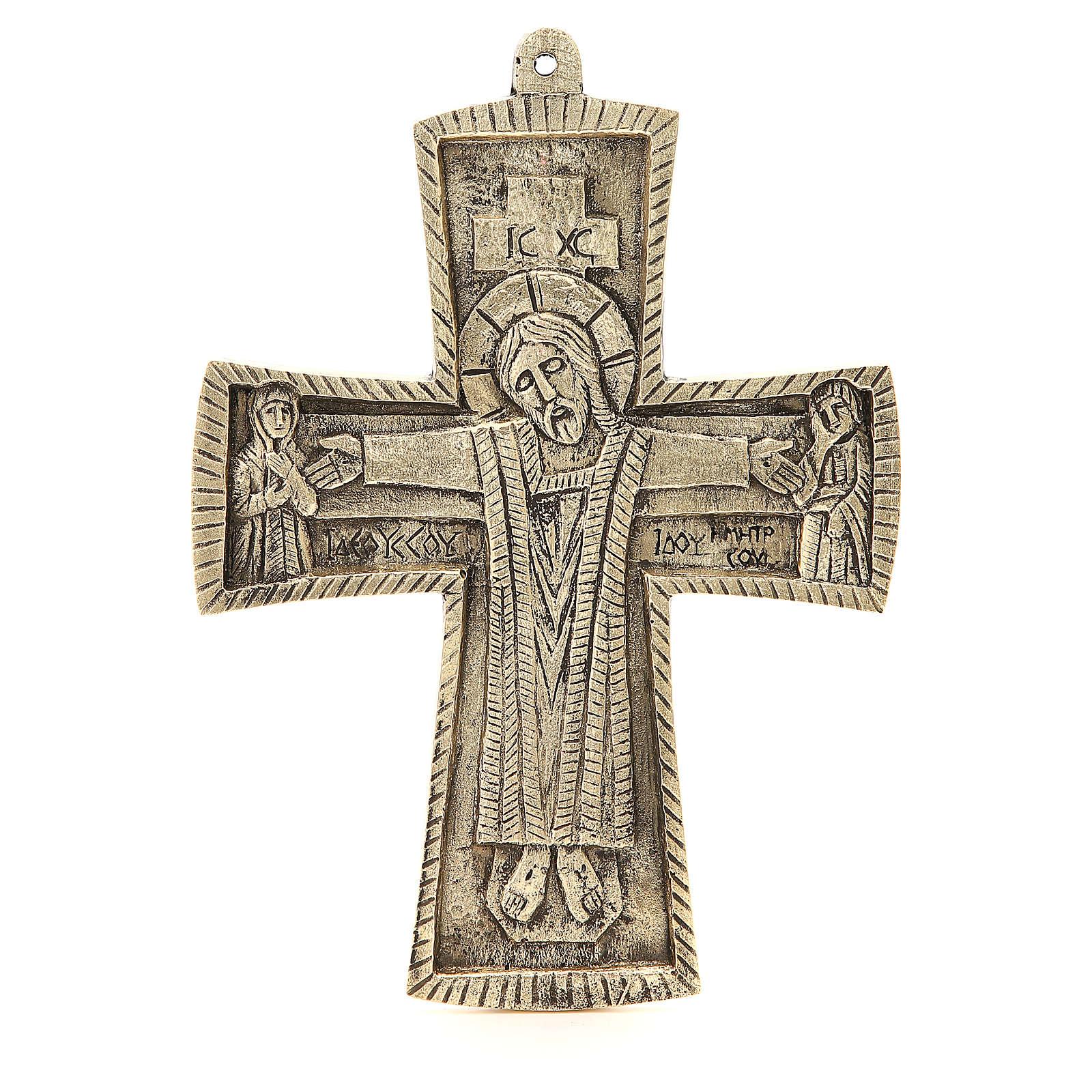 Croce Jésus grand prêtre Monaci Betlemme ottone 27x20 cm 4
