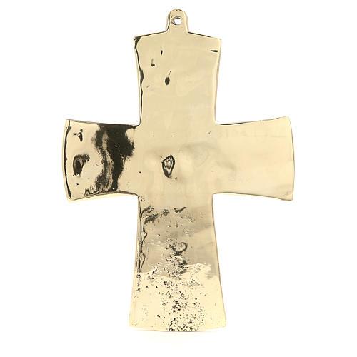 Croce Jésus grand prêtre Monaci Betlemme ottone 27x20 cm 3