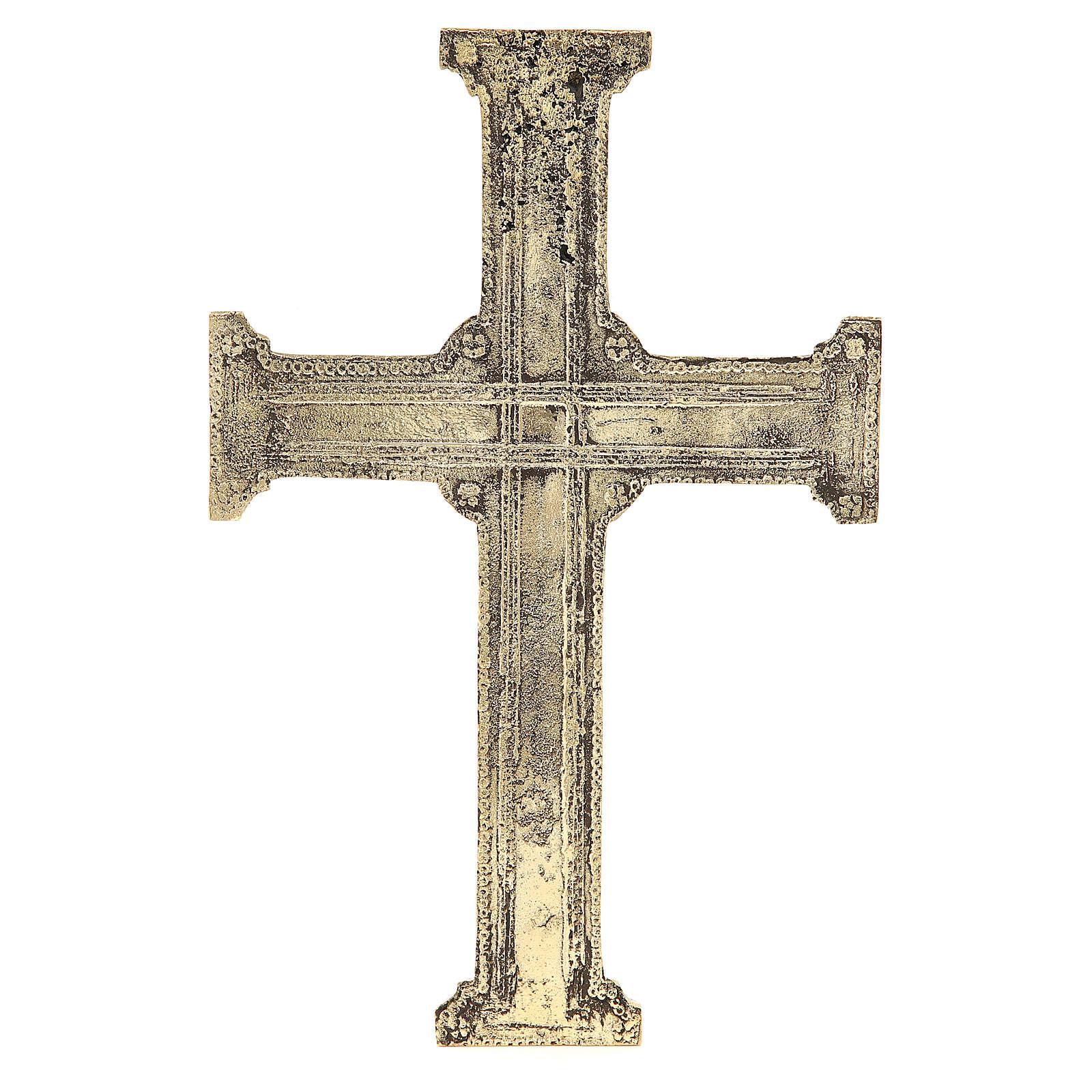 Croce di Cristo ottone Monaci Betlemme 29x19 cm 4