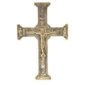Croce di Cristo ottone Monaci Betlemme 29x19 cm s1