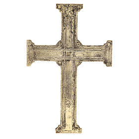 Croce di Cristo ottone Monaci Betlemme 29x19 cm s3