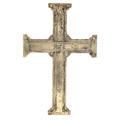 Croce di Cristo ottone Monaci Betlemme 29x19 cm 3