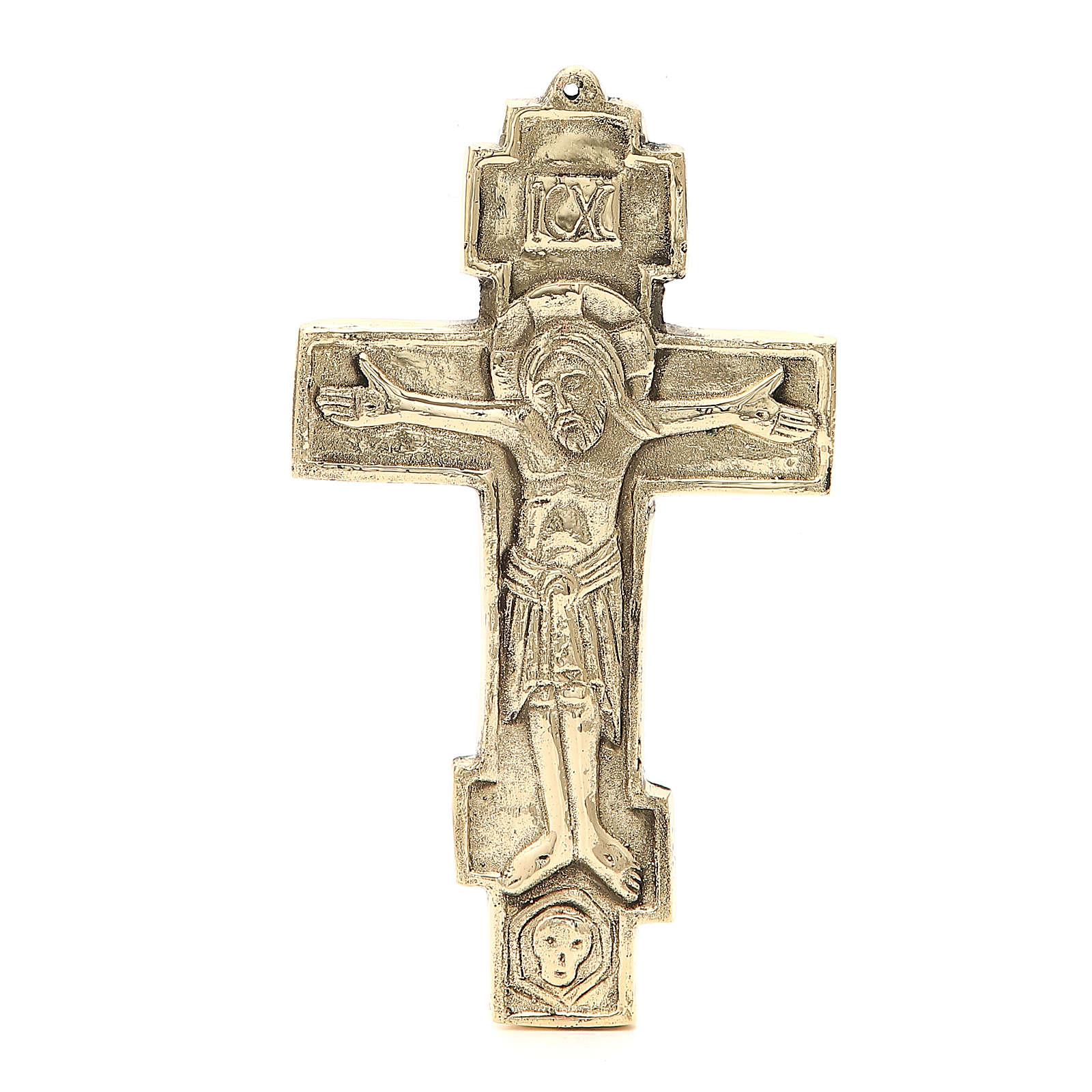 Cruz Jesús Grand Pretre Monjes betlemme latón 18,5x11 4