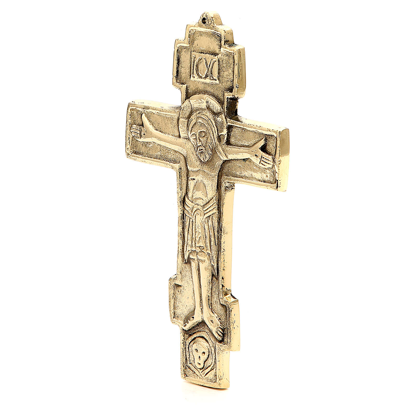 Croce bizantina ottone Monaci di Betlemme 18,5x11 cm 4