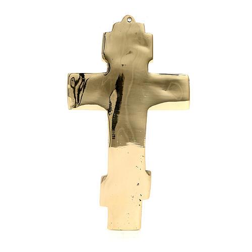 Cruz bizantina latão monges de Belém 18,5x11 cm 3