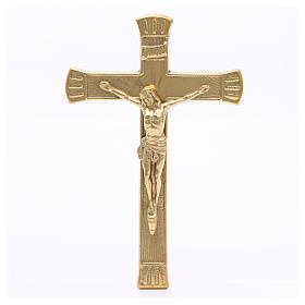 Crocifisso ottone dorato 19 cm s1