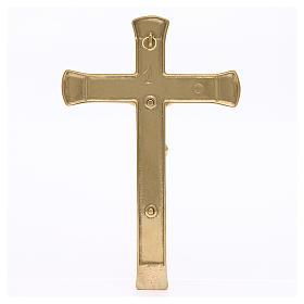 Crocifisso ottone dorato 19 cm s2