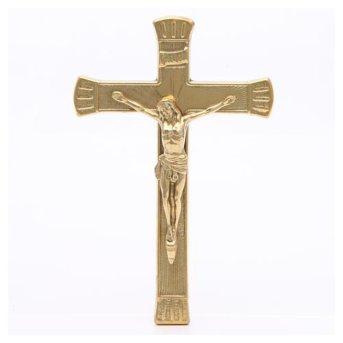 Crocifisso ottone dorato 19 cm 1