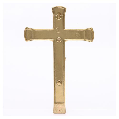 Crocifisso ottone dorato 19 cm 2