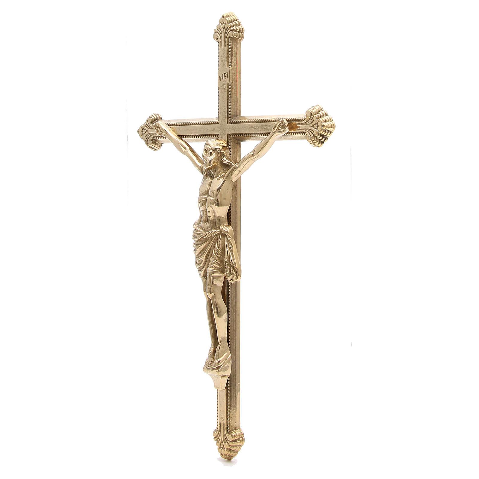 Crocifisso cm 46 ottone dorato 4