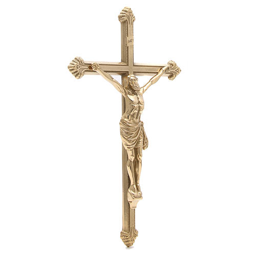 Polished Brass Crucifix measuring 46 cm 3