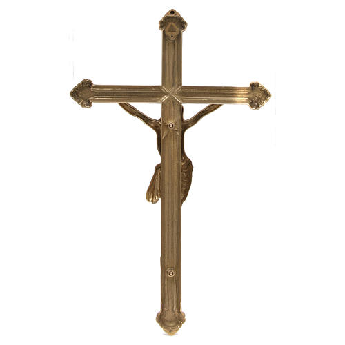 Polished Brass Crucifix measuring 46 cm 4