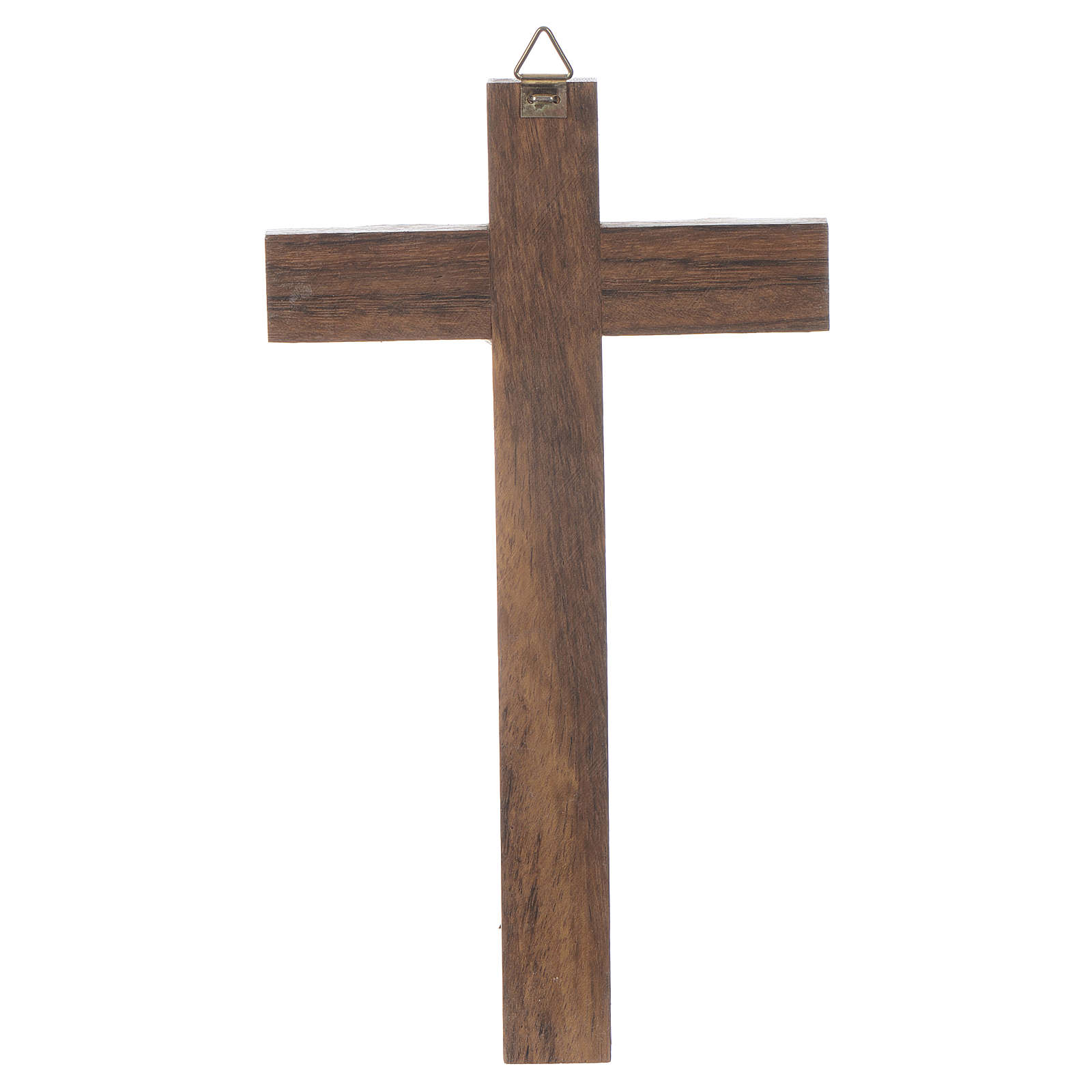 Krzyż drewno ciało chrystusa metal posrebrzany 18cm 4