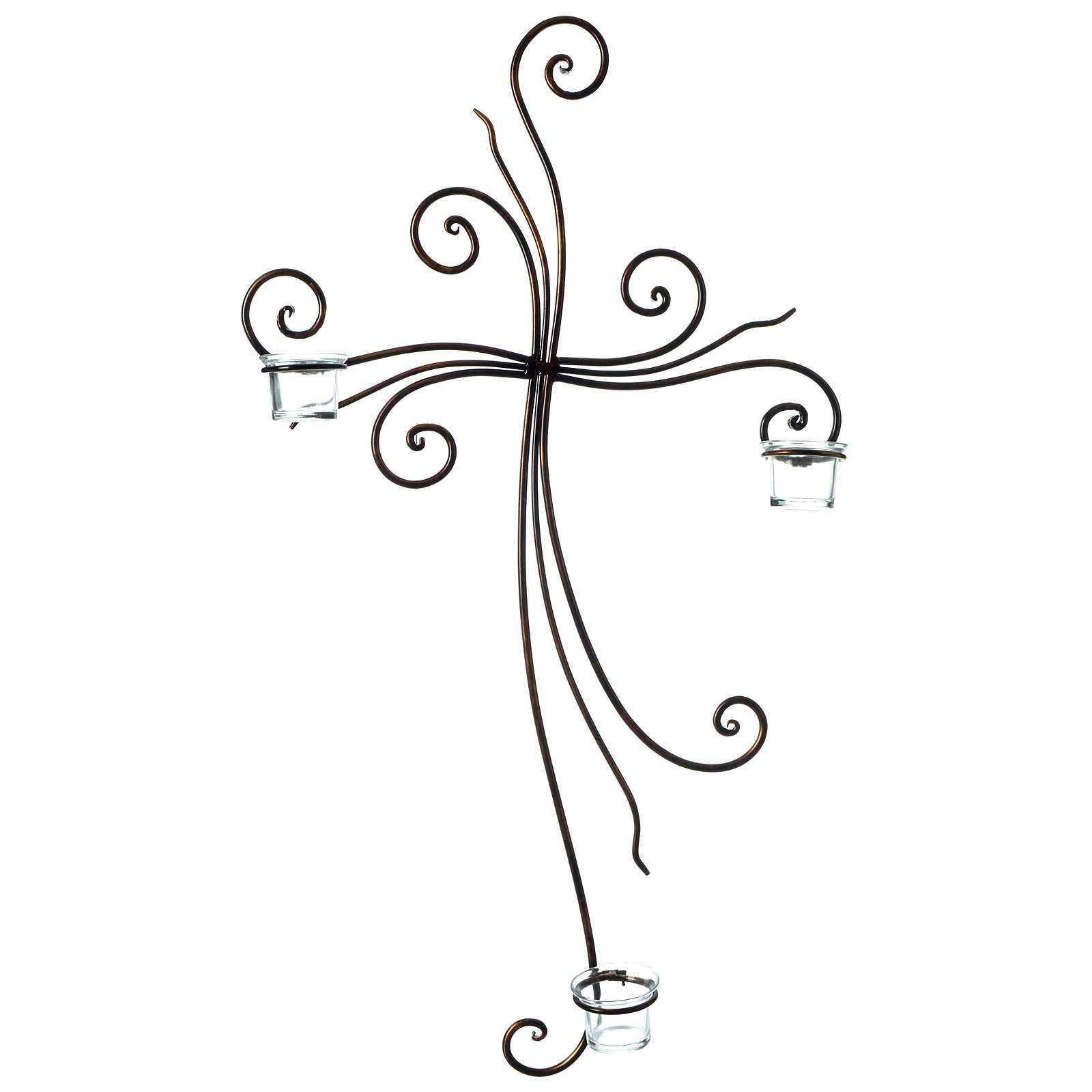 Metal Cross with Tealight Holders 29.5x18 inches 4