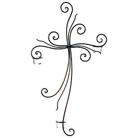Metal Cross with Tealight Holders 29.5x18 inches s3