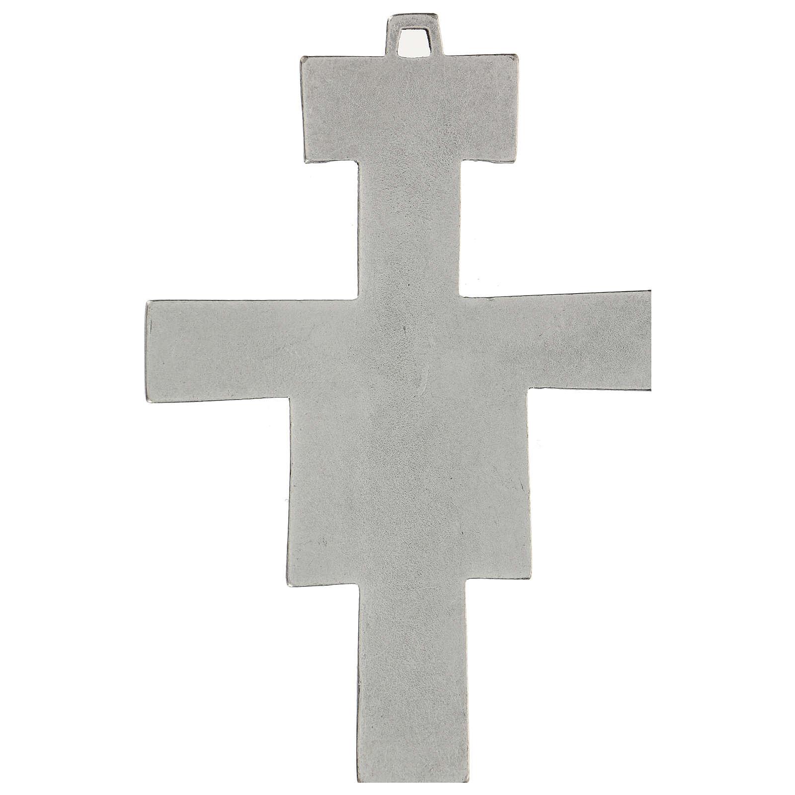Cruz de San Damián de pared 12 cm zamak 4