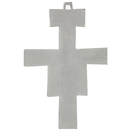 Cruz de San Damián de pared 12 cm zamak 2