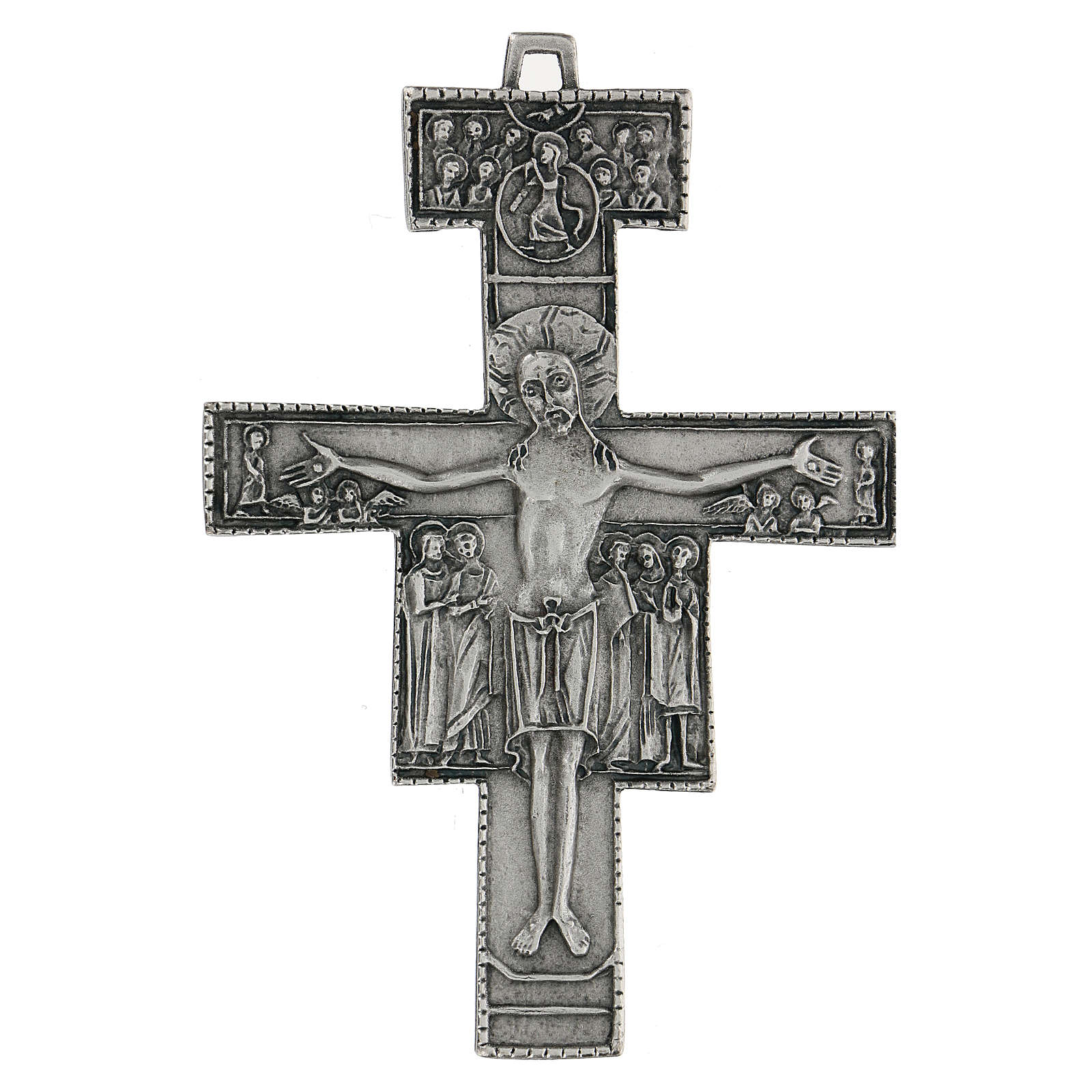 Croce di San Damiano da parete 12 cm zama 4