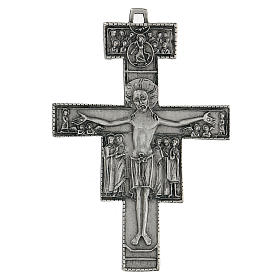 Croce di San Damiano da parete 12 cm zama s1