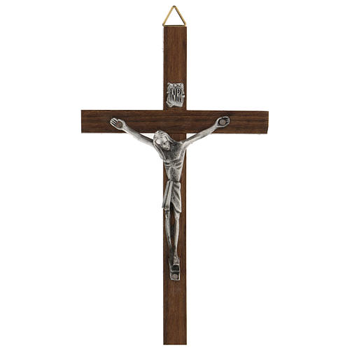 Cruz de madera con Cristo de zamak 15 cm 1