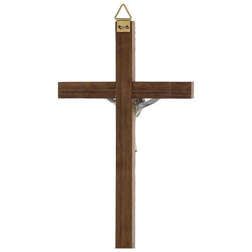 Croix en bois avec Christ en zamak 15 cm 3