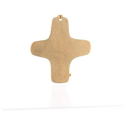 Croix murale Je suis la Vie aluminium doré 11 cm 4