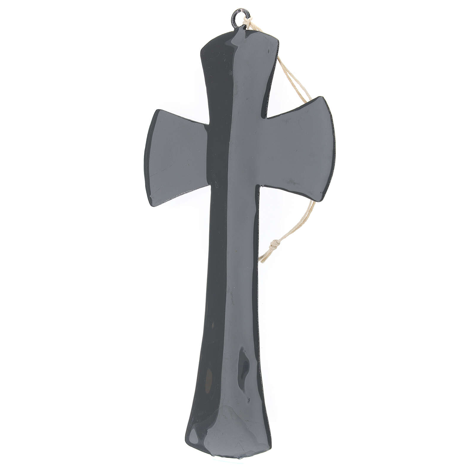 Wall cross 8 in gloss grey enamel 4