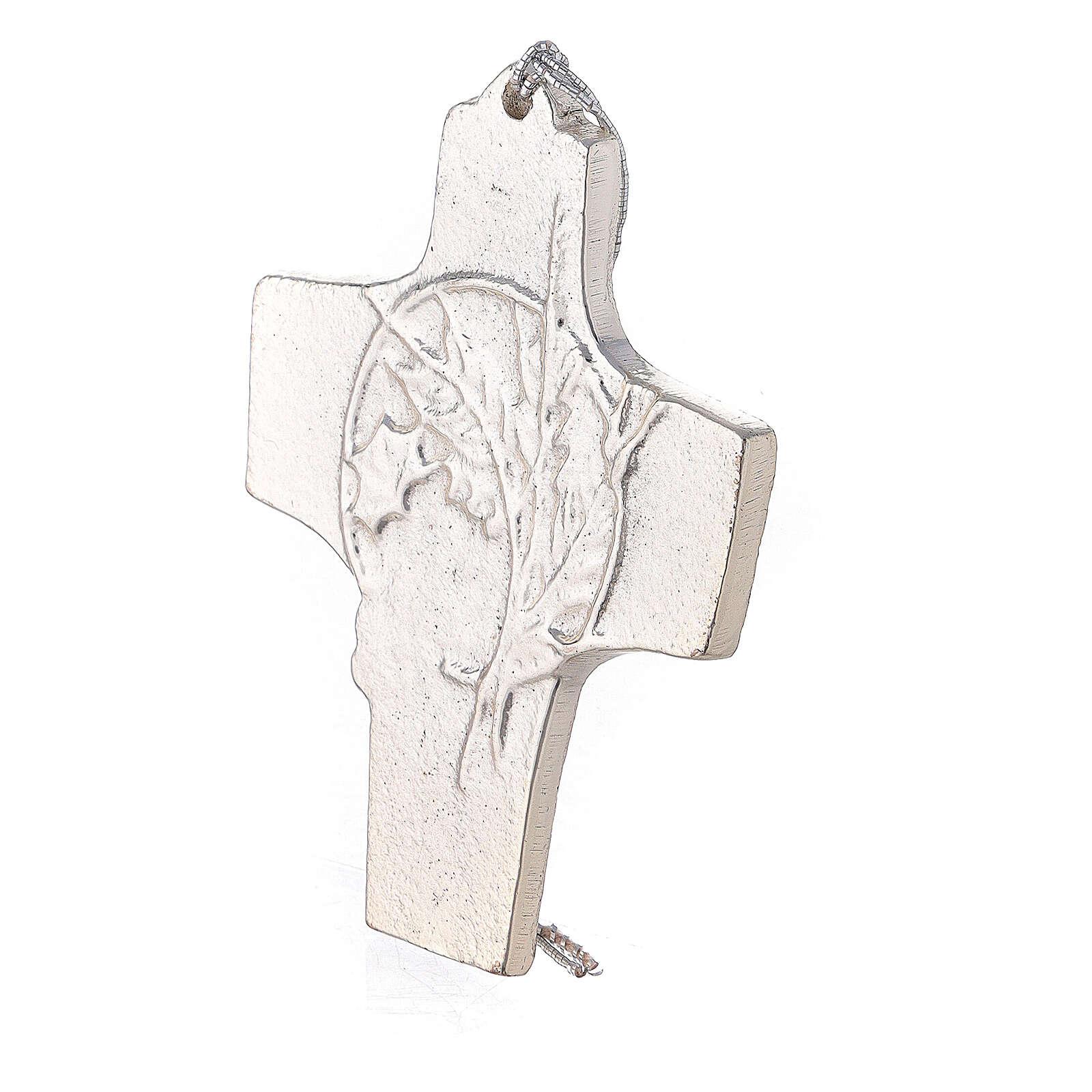 Cruz de pared trigo uva aluminio 9,5 cm 4
