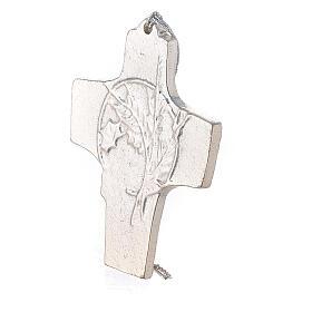 Croix murale blé raisin aluminium 9,5 cm s2