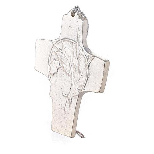 Croix murale blé raisin aluminium 9,5 cm 2
