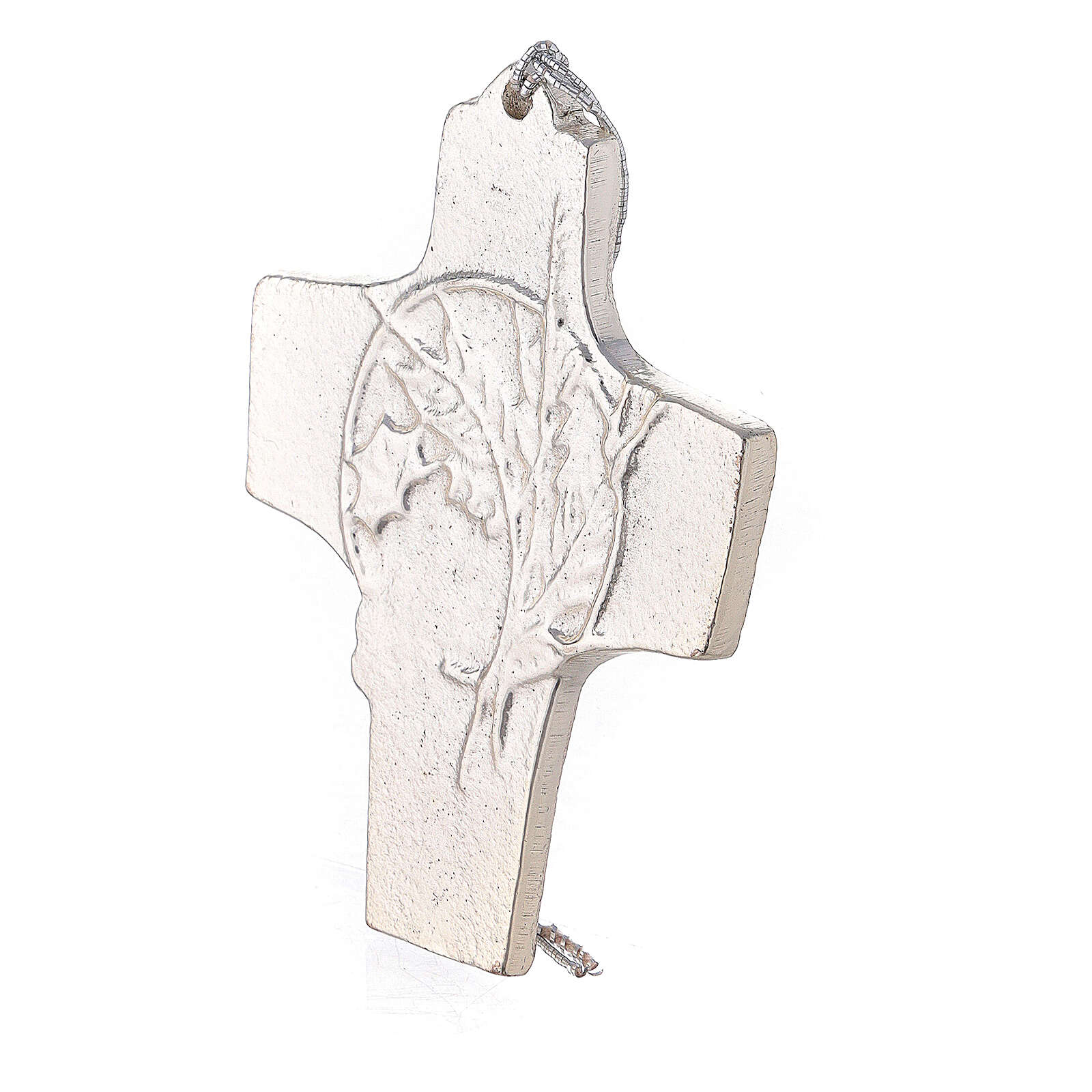 Aluminium wall cross with spikes and grapes 3 3/4 in 4
