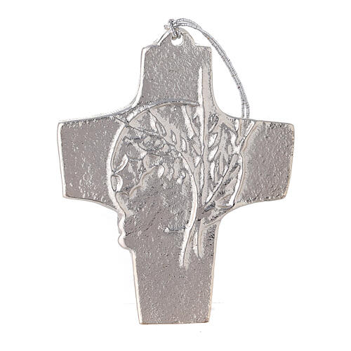 Aluminium wall cross with spikes and grapes 3 3/4 in 1