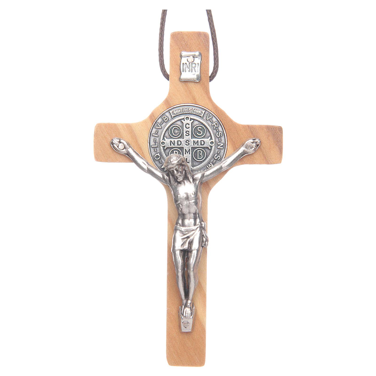 Benediktus-Kreuz für Erstkommunion aus Olivenholz 4