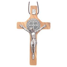 Krzyż św. Benedykta drewno oliwkowe s1