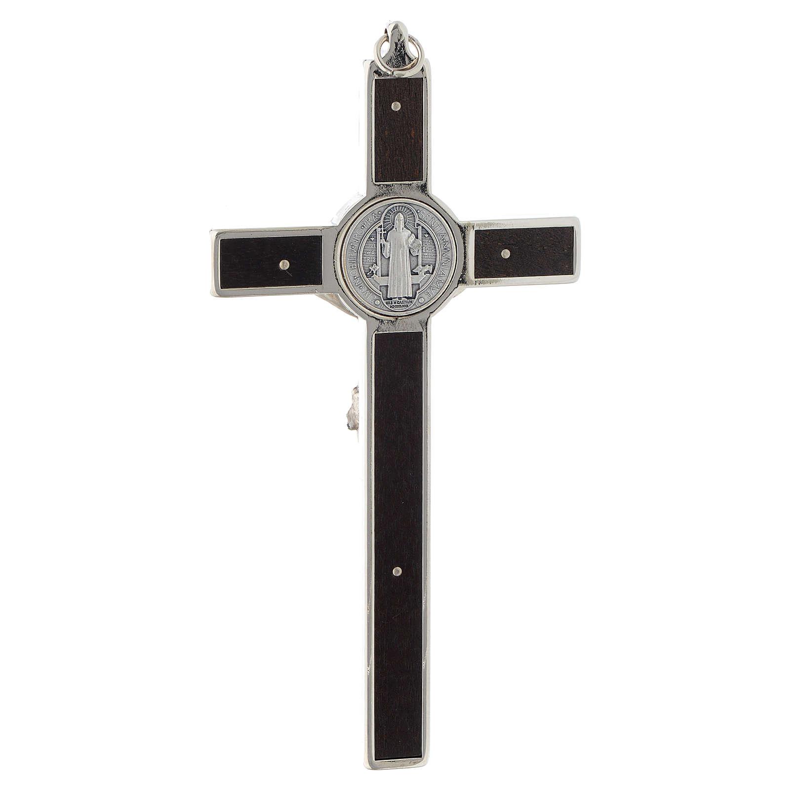 Crucifixo São Bento cruz madeira 4